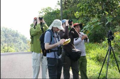 Jason guiding a bird tour